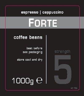 Forte koffie beans